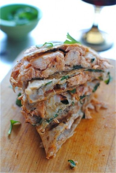 Buffalo Chicken Quesadillas #crave