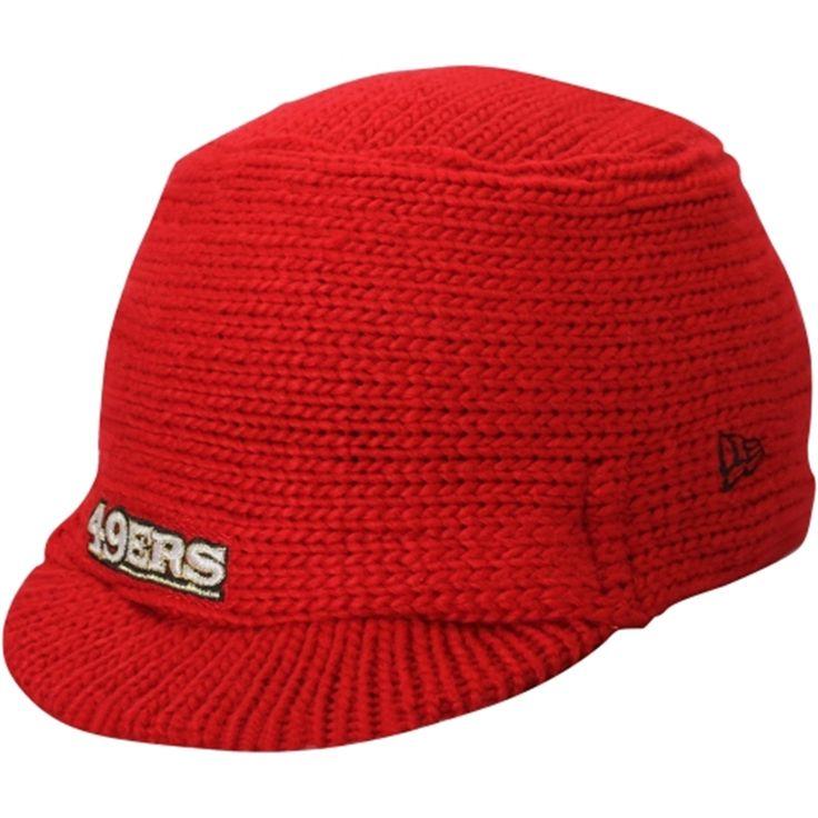 New Era San Francisco 49ers Women's Scarlet Snow Sergeant Knit Visor Hat