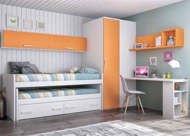 Infantil equipado con compacto alto 2 camas