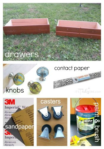 Quick #DIY tutorial on turning an old drawer into smooth rolling under the bed #storage
