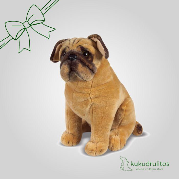 Tierno peluche de perro. Nuestro doguillo, mide 103 x 43 x 28 cm. #Peluche #Toys #Juguetes #Niños