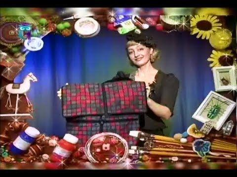 Шьем сумку, тапочки в технике мозаики. Узнаем секреты работы с мехом, сукном, драпом. Мастер класс - YouTube