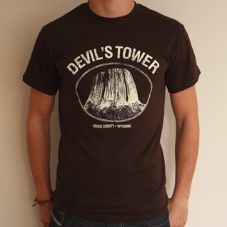 Devil's Tower - Brown Regular Fit T-shirt | Last Exit to Nowhere