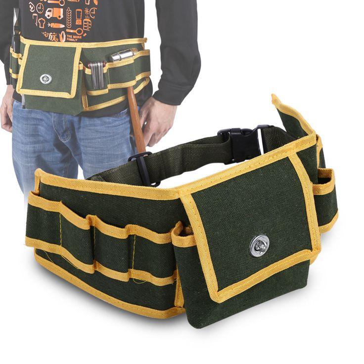 Portable Multifonctionnel Toile Outil Porte-Sac Pochette Électricien Mécanicien Taille Pack Ceinture