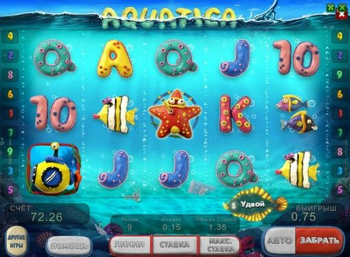 Play online slot Aquatica for money. On-line slot Aquatica designed by the well-known company GloboTech. Its theme is dedicated to the underwater world and its inhabitants, as in the Dolphin Room. Manufacturer Aquatica game machine offers players dive into the depths of the sea to search for the treasure. Here you can find them