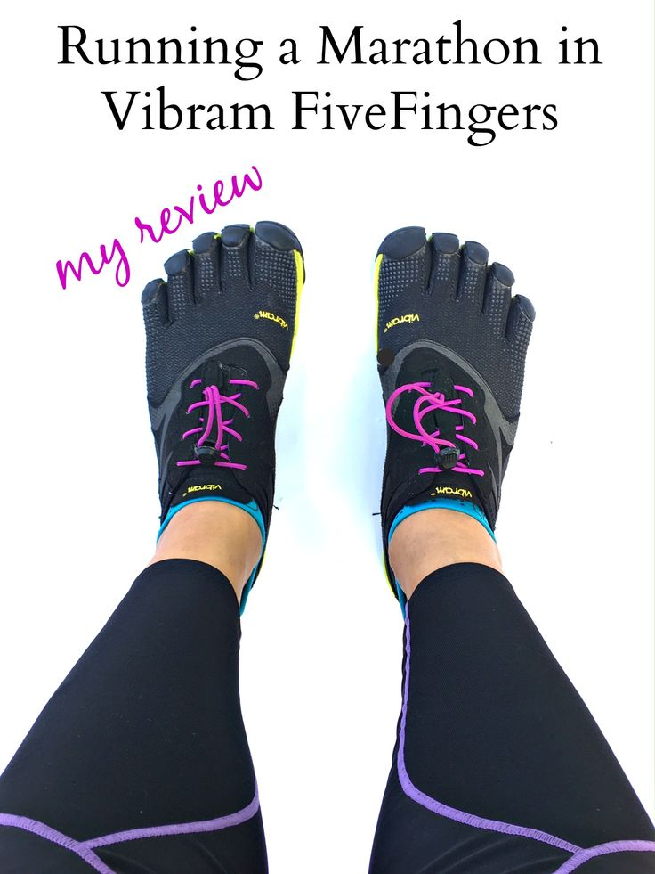 Running a marathon in vibram fivefingers