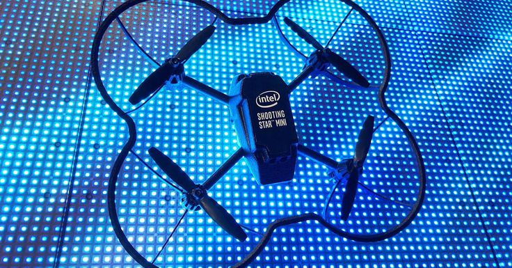 Indoor fireworks? Intel broke records with 100-drone light show at CES