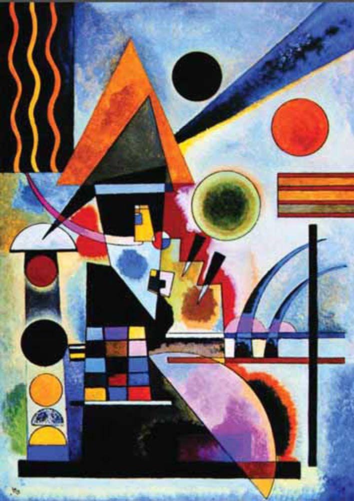 Roethel, T. Il N°734, Schaukeln, 1925, P.690 - Wassily Kandinsky - Puzzles pieces: 1000-1500-2000 -- 1000 pcs (2901N16176) - 1500 pcs (281N09569G) - 2000 pcs (3001N16037G)