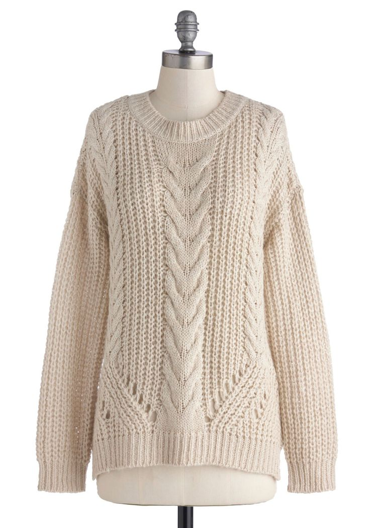 Cards on the Cable Knit Sweater | Mod Retro Vintage Sweaters | ModCloth.com