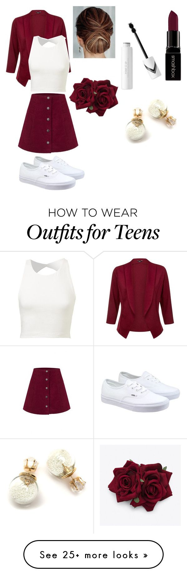 """""""Untitled #95"""" by okay-llama on Polyvore featuring Vans, Smashbox, women's clothing, women's fashion, women, female, woman, misses and juniors"""