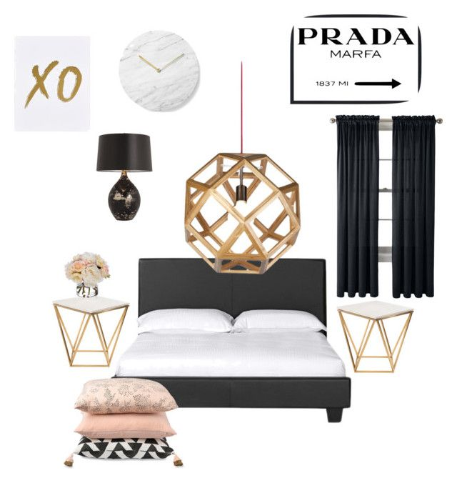 Master Bedroom by libbyellmers on Polyvore featuring polyvore, interior, interiors, interior design, дом, home decor, interior decorating, Nuevo, Arteriors, Royal Velvet, xO Design, Menu, Prada, Diane James and bedroom