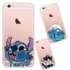 Til Etui iPhone 6 Etui iPhone 6 Plus Gjennomsiktig Etui Bakdeksel Etui Tegneserie Myk TPU tiliPhone 7 Plus iPhone 7 iPhone 6s Plus/6 Plus – NOK kr. 44