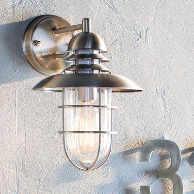 Breakwater Bay Juno 1-Light Outdoor Wall Lantern