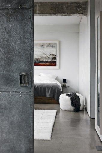 What My London Loft Will Resemble. Grey Bedroom With Metal Doors In The  Simon Lee And Solenne De La Fouchardiere
