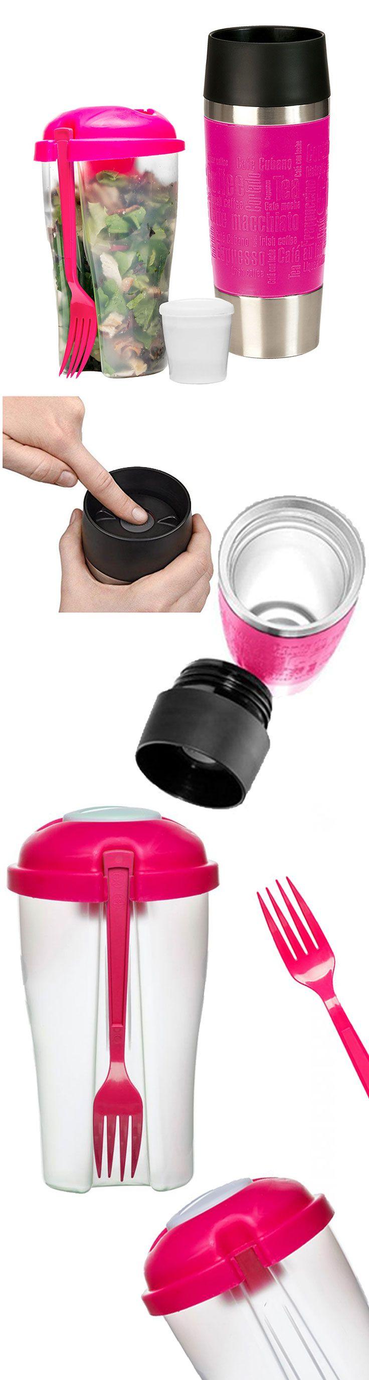 Stylový dárkový set obsahuje polypropylenový cestovní svačinový box s vidličkou a kvalitní německý termohrnek Travel Mug