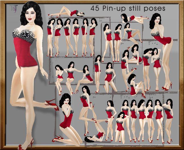 TuTy's - 45 PIN-UP POSES + Posing hud