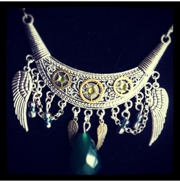 Tribal Steampunk Winged Necklace