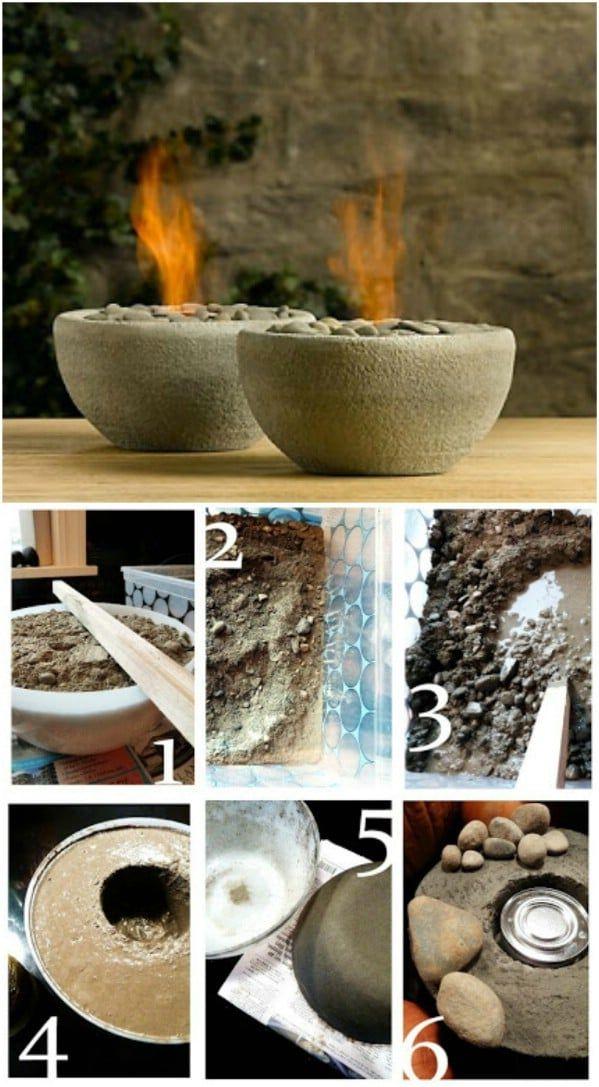 10 Einfache DIY Feuerstellen zur Verbesserung Ihres Außenbereichs