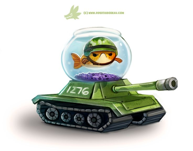 Daily Paint #1276. Fish Tank by Cryptid-Creations.deviantart.com on @DeviantArt