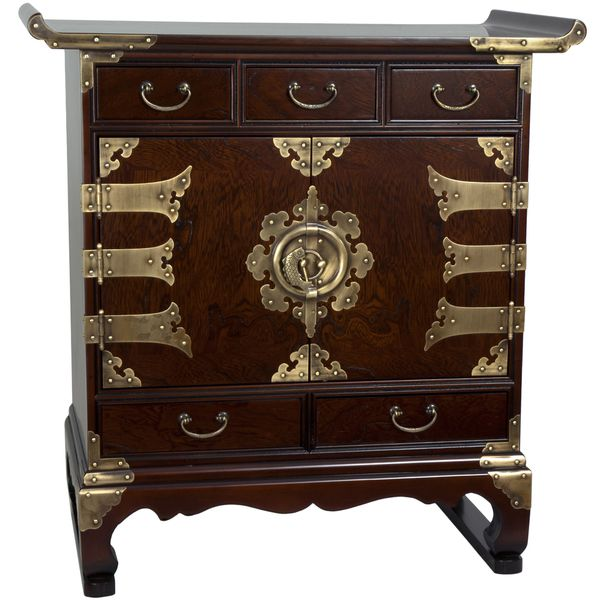 Korean Antique Style 5 Drawer End Table Cabinet (Korea)