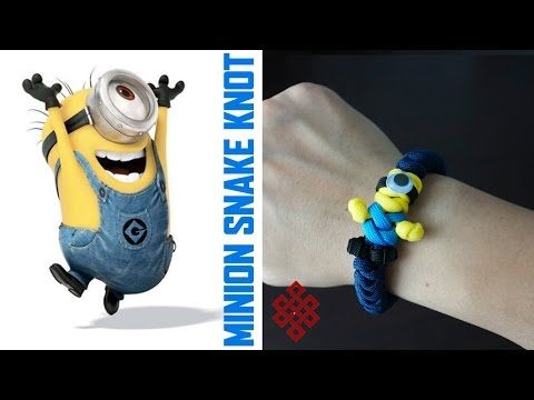 Minion Snake Knot Paracord Bracelet Tutorial - YouTube Hello papagena, tu es bella comme la papaya! Here's how to make the Minion Snake Knot paracord bracelet. We're revisiting the paracord Minion today and we're making it into a wearable bracelet! Let me know what you Weavers think!