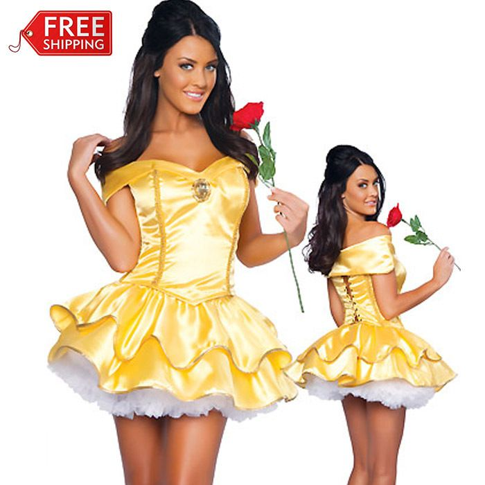 belle costumes for women halloween costumes for women adult princess belle costume beauty and - Disney Princess Halloween Costumes Diy
