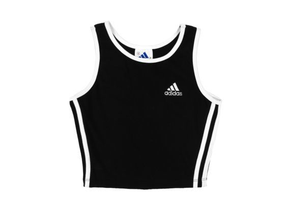 Adidas Crop Top  Athletic Sporty Minimal 90's Grunge by TWINLIGHTS, $34.00