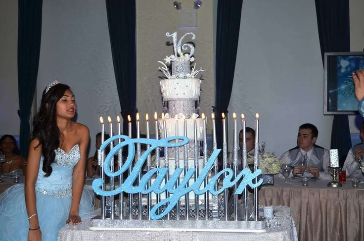 Taylor's Winter Wonderland Sweet 16 | CatchMyParty.com