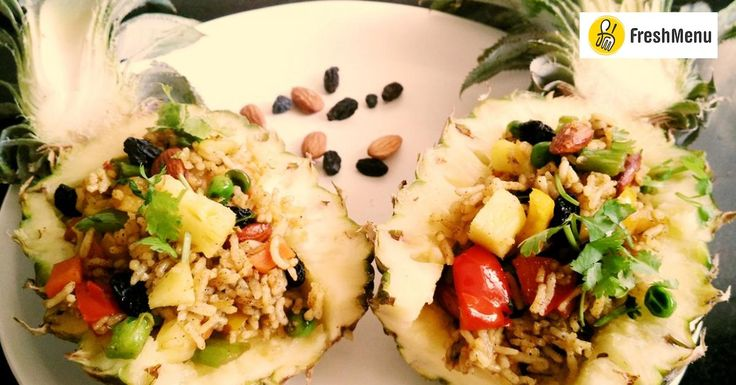Love Thai Fried rice?Give this delicious Thai Pineapple Fried Rice a try and serve it along with Massaman Curry for a weeknight dinner. Its quick to make and delicious to eat too.#AsianRecipeContest with #FreshMenu (India's Leading Food Delivery Portal)  Recipe Link --> http://ift.tt/2fqIzIf #Vegetarian #Recipes