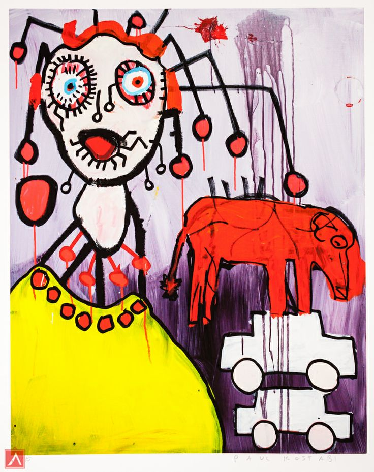"""Paul Kostabi: """"Where´s the beef"""" (2013) is a handsigned & numbered gliclée."""