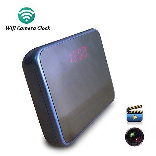 Wifi Hidden Camera Alarm Clock Wireless Spy Cameras Motio