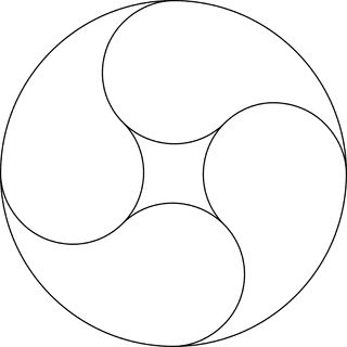 4 Yin Yang Design Symbols In A Circle