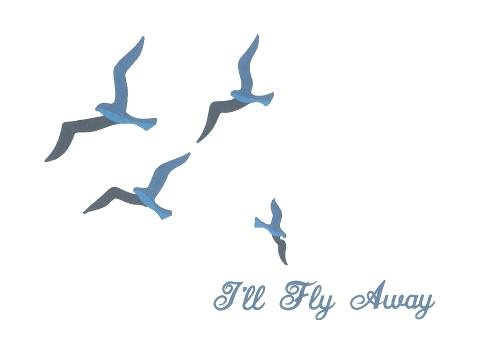 Tattoo---I'll Fly Away (love that song) with 6 smaller birds.