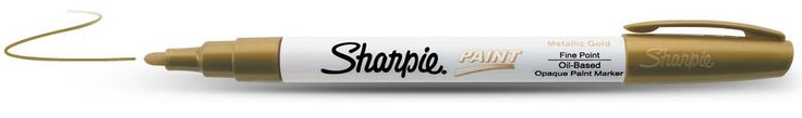 Sharpie Oil-Based Paint Marker Fine! Writes on metal, pottery, wood, rubber, glass, stone and more!!! I want some!