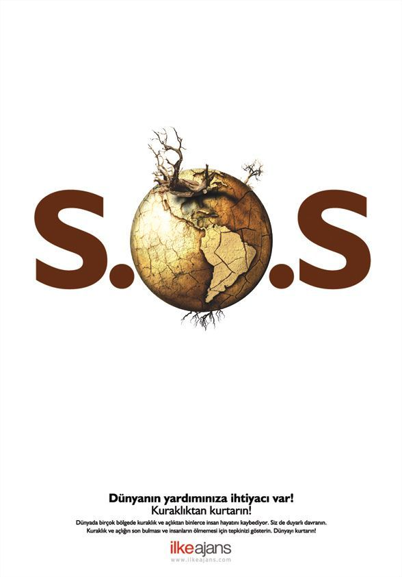 Social Campaign: S.O.S by ~dreaminbox Issue: Global Warming Slogan: World needs your
