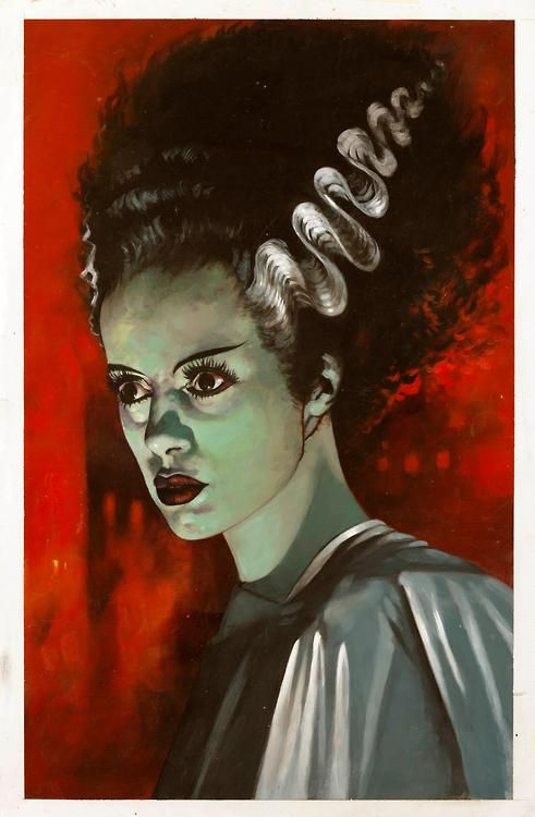The Bride of Frankenstein by Dean Ormston, from Ghastly Delights