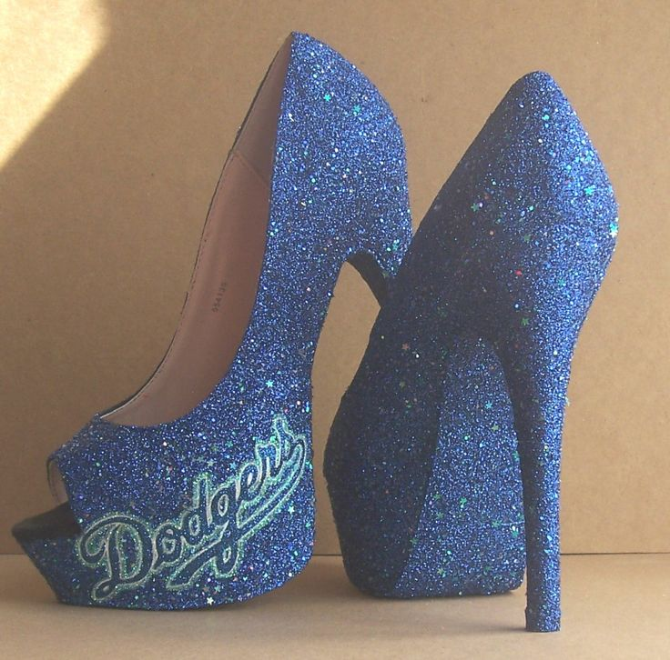 custom LA Dodgers high heels