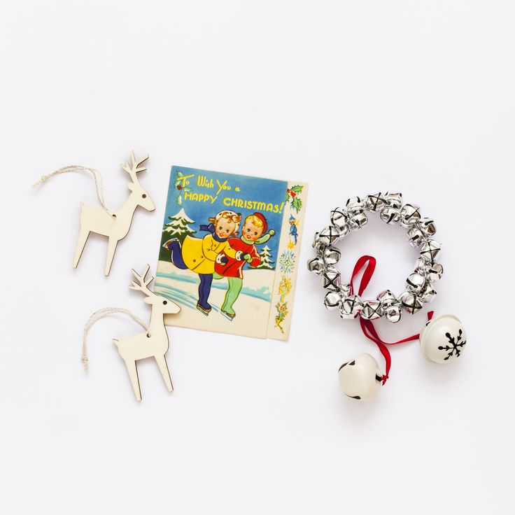 Christmas bells and reindeer / Candy Pop: http://www.candypop.uk.com/