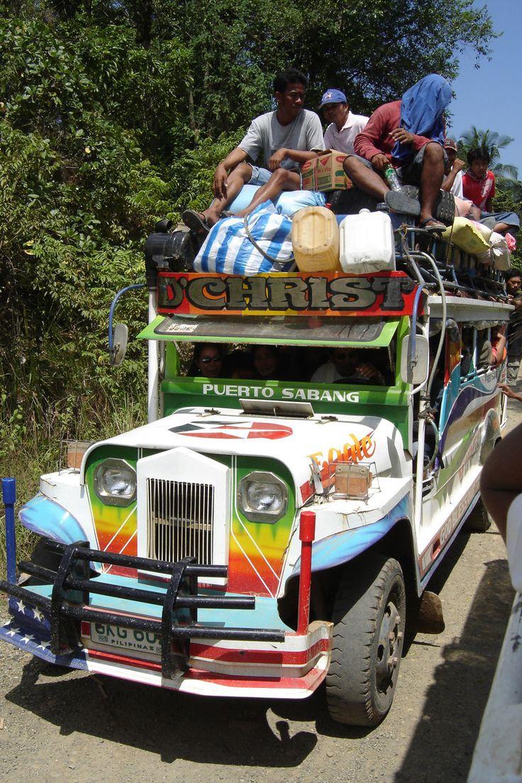 Jeepney entre Sabang et Puerto Princesa Palawan