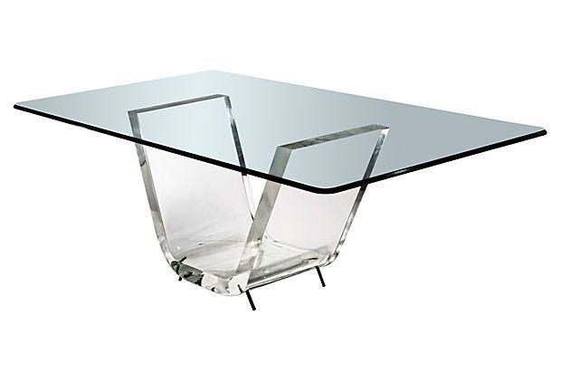 40 X 20 Thick V Dining Table Base On OneKingsLanecom