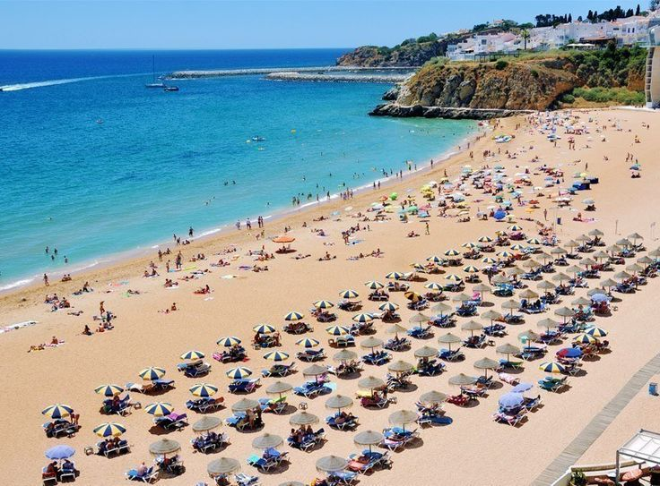 Praia do Peneco - main beach of famous Albufeira resort in Lagos, Algarve, Portugal   Portugal Travel Guide: What to Do and See