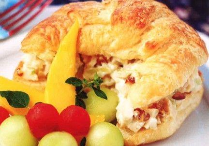 Lion House Cold Chicken Salad Croissant Sandwich
