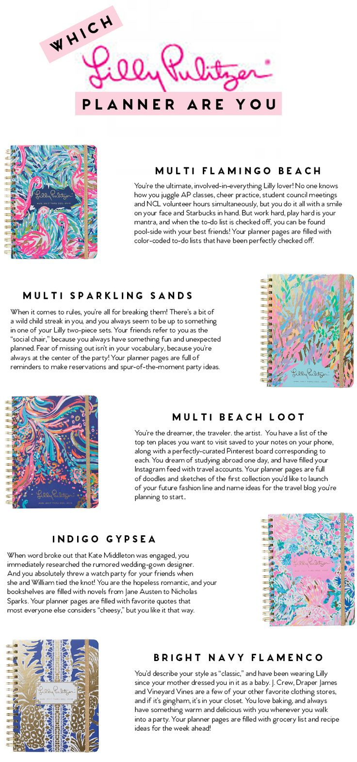 Lilly Pulitzer Agendas || a lonestar state of southern