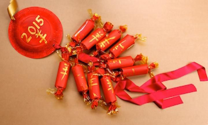 Traditionally, firecrackers are let off each Chinese New year to warn away the man-eating monster Nian. Make your own Chinese 'firecrackers' out of toilet rolls and create a traditional Chinese garland this year.