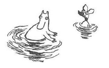 """""""Ja he juoksivat suoraan veteen auringonsiltaa."""" Muumit ja suuri tuhotulva"""