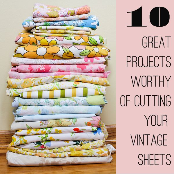 Yard Sale Decorating- Ideas and tutorials, including great ideas on decorating and crafting with sheets by Modern Kiddo!