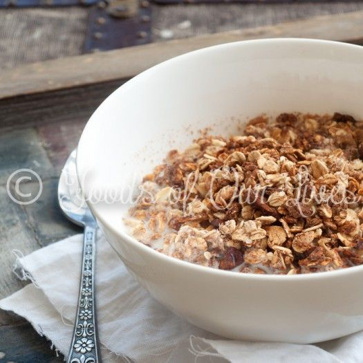 Homemade Granola (with No Refined Sugars!) - Foods of Our Lives