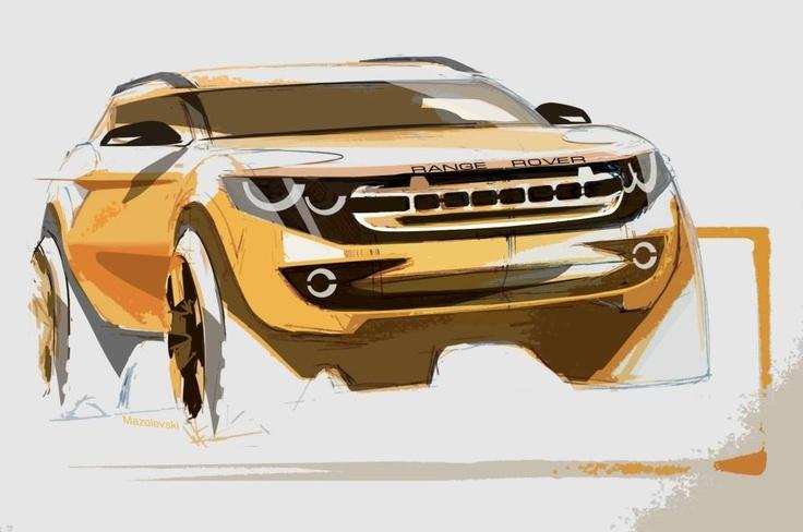Car industrial design sketch