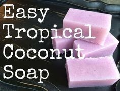 Hey friends!Here's an easy m&p soap recipe that will leave your skin feeling silky and smooth. It's packed with coconut oil and vitamin E (both totally awesome for the skin) and smells like a tropical pool drink (you know, the ones with the tiny umbrellas!).It's so easy to make and will really make a splash in your shower!Grab your supplies and try it for yourself! :) You'll need:6 cups MP Soap Base(I had suspension base on