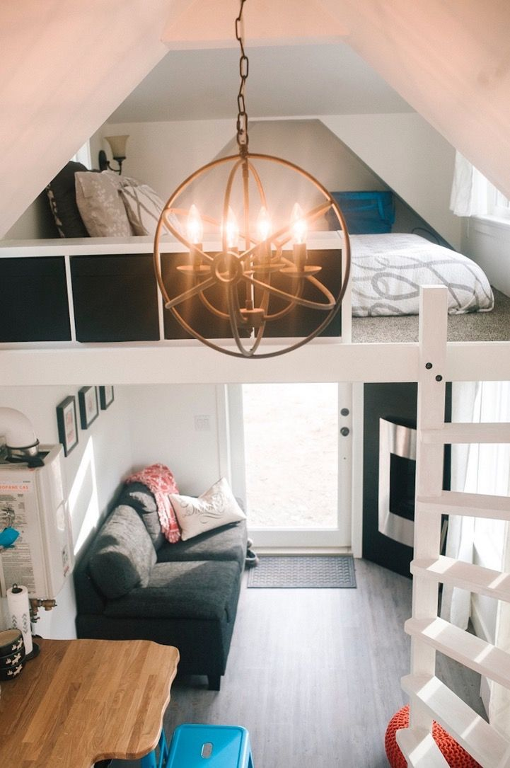 LOVE this tiny house staircase design - 280sf Esket Tiny House on Wheels by Robert and Bettina Johnson